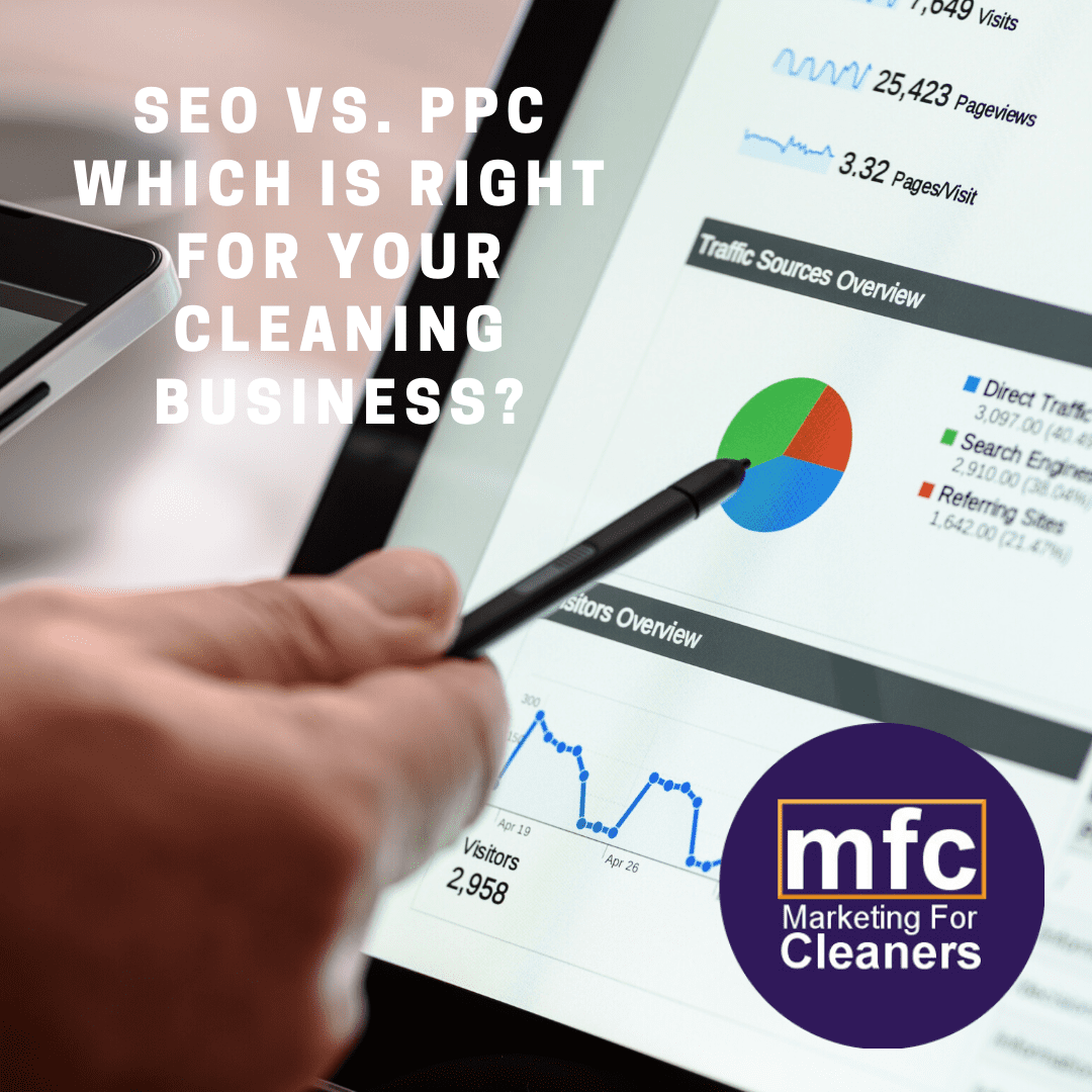 SEO vs. PPC for cleaning businesses